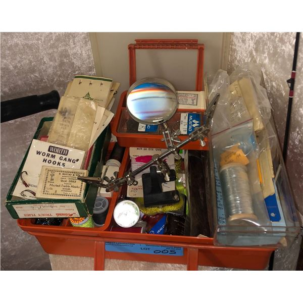 1 Box of assorted fly tying equipment