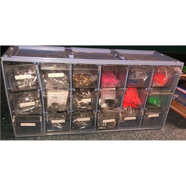 1 Box of assorted lead fishing sinkers