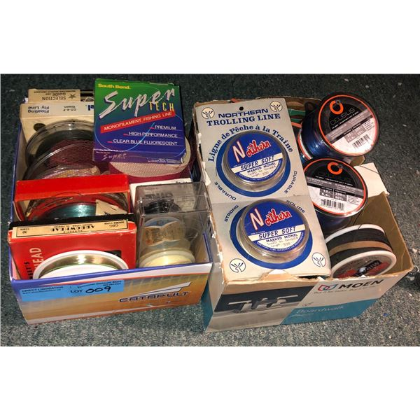 2 Boxes of assorted fishing lines