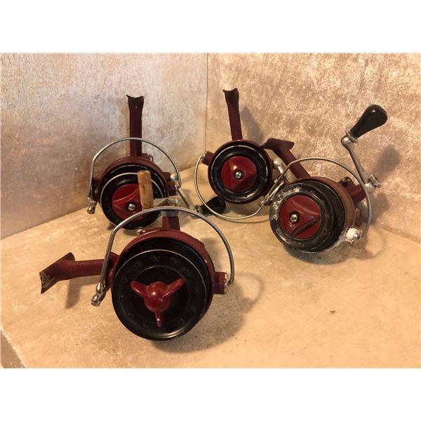 4 Dam Quick Jr. Spinning reels West German vintage