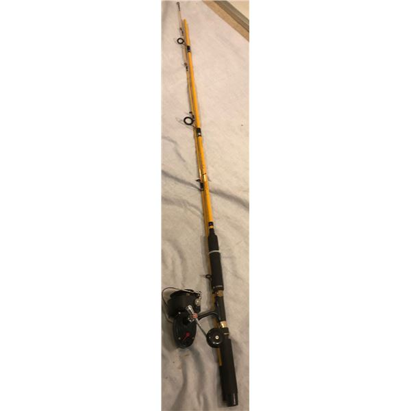 Eagle Claw 10ft spinning rod w/Garcia Mitchell 402 saltwater spinning reel