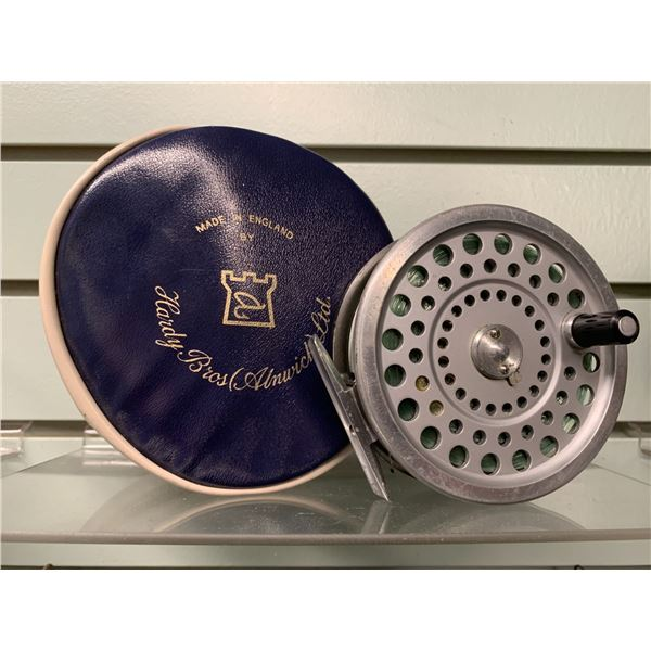 """Hardy Bros vintage """"Marquis"""" Salmon No 1 centerpin reel with case"""