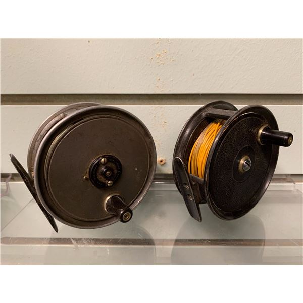 2 JW Young & Sons fishing fly reels Pridex & Condex