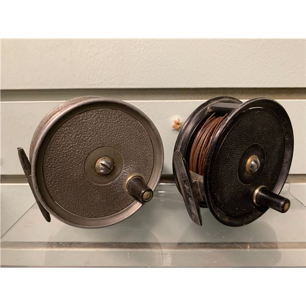 2 Vintage fly reels J.W.Young Condex & Allcocks The Popular