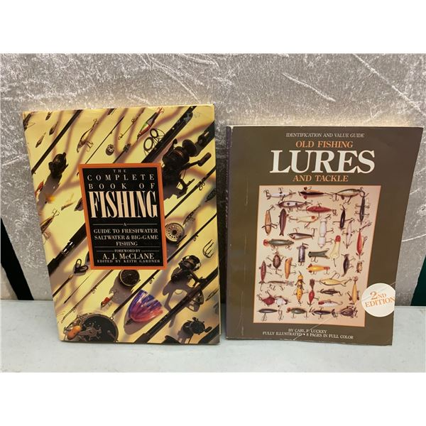 2 books on vintage fishing lures and rods