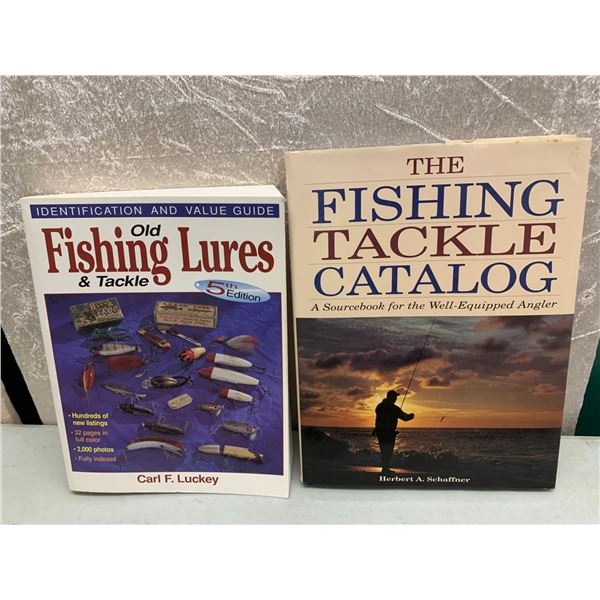 2 books on vintage fishing lures and tackle