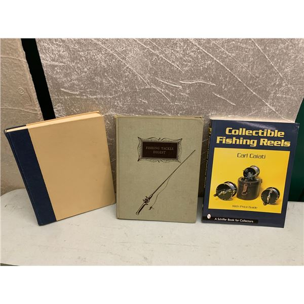3 books on vintage fishing reels and tackle