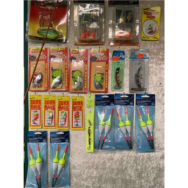 Large lot of assorted fishing lures mostly fresh water