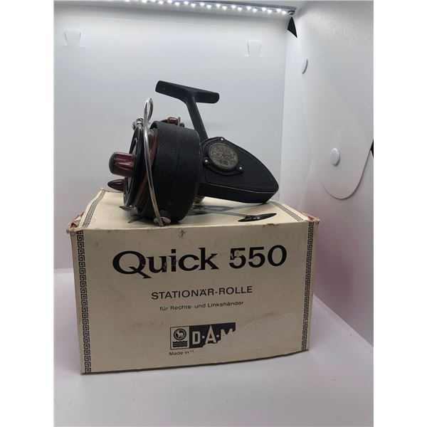 Dam Quick 550 spinning reel West Germany w/ orginal box