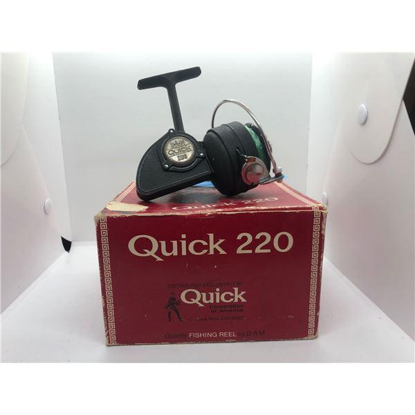 Dam Quick 220 spinning reel West Germany w/ orginal box
