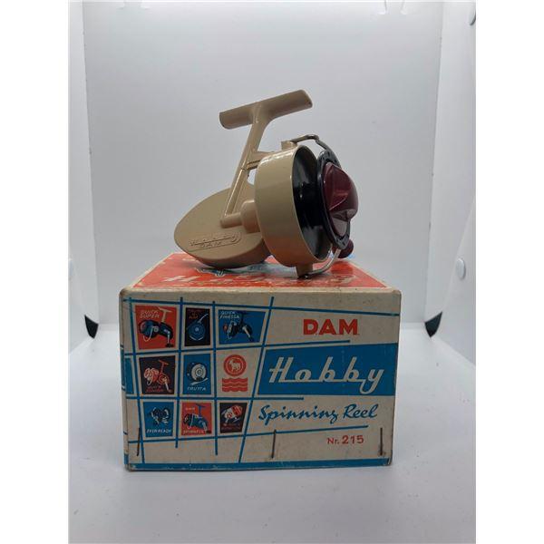 Dam Hobby 215 spinning reel West Germany w/ orginal box