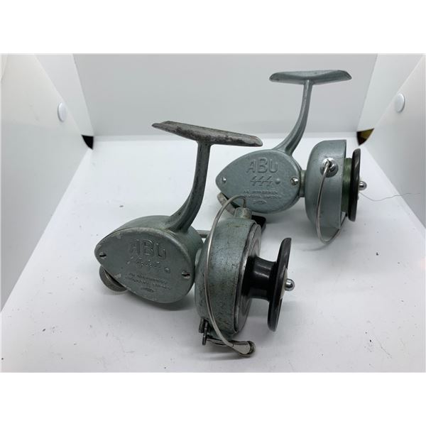 2 vintage ABU model 444 spinning reels Sweden