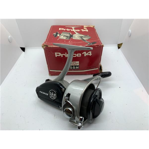 Dam prince 1014 spining reel w/ original box