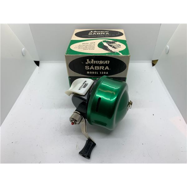 Johnson sabra 130 A casting reel w/ original box