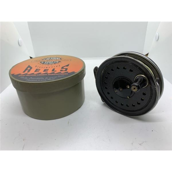 JW Young & Sons beaudex fly reel w/original box