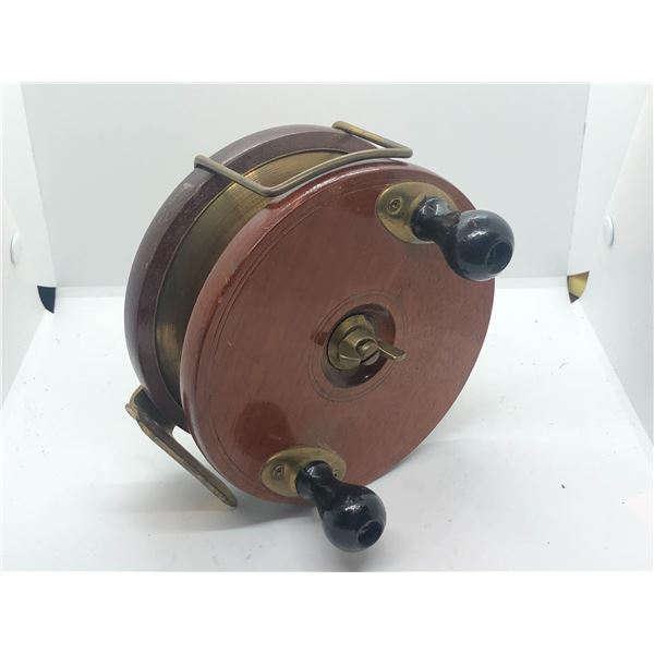 "Peetz vintage classic wooden 6"" fishing reel"