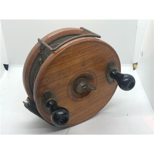 "Peetz vintage classic wooden 6"" fishing reel"