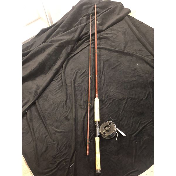Fenwick Bea Sowles built blank11ft mooching rod w/ JW Young & Sons windex reel