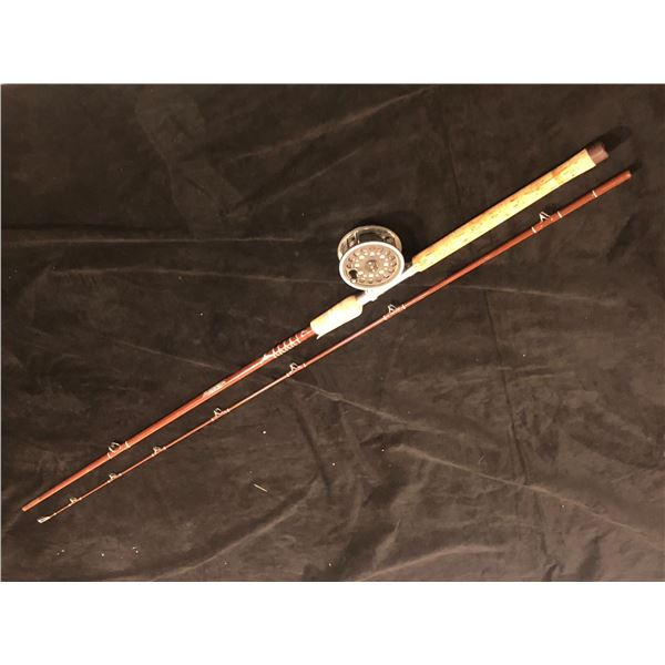 "Fenwick fs89c 8'10"" mooching rod w/ JW Young & Sons reel"