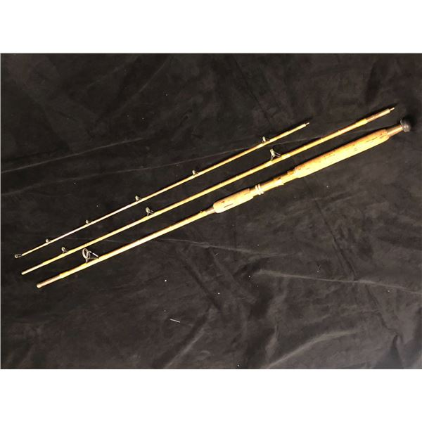 Custom built vintage split-cane 3pc mooching rod 10'4""