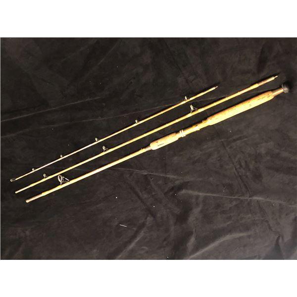 "Custom built vintage split-cane 3pc mooching rod 10'4"""