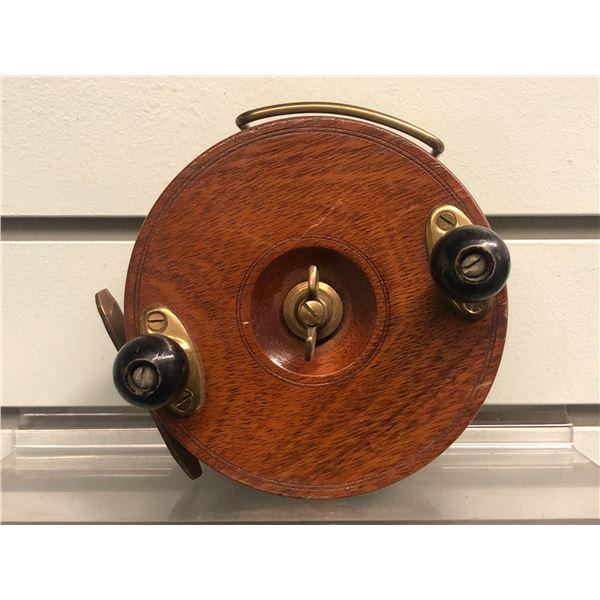 "Peetz vintage classic wooden 5"" fishing reel"