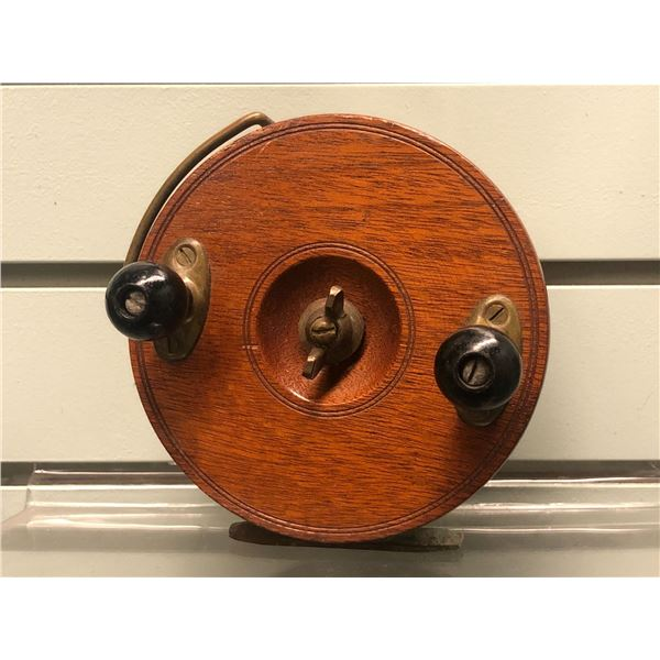 "Peetz vintage classic wooden 5"" fishing reel"