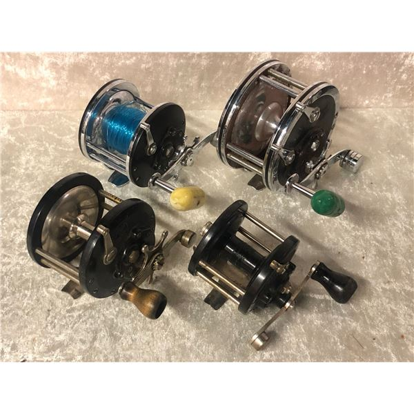 4 Penn assorted level-wind reels