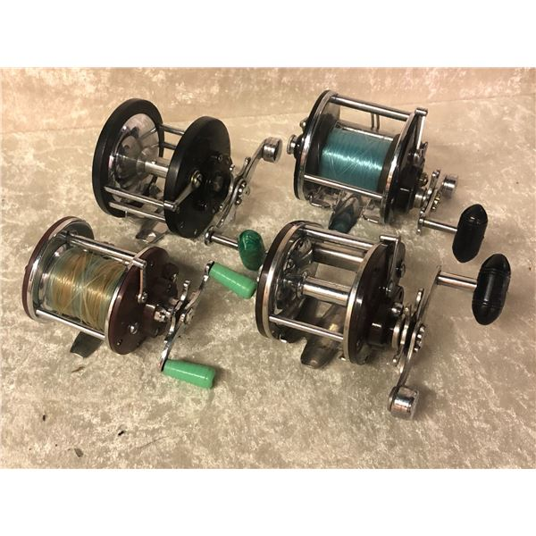 4 Penn assorted level-wined reels