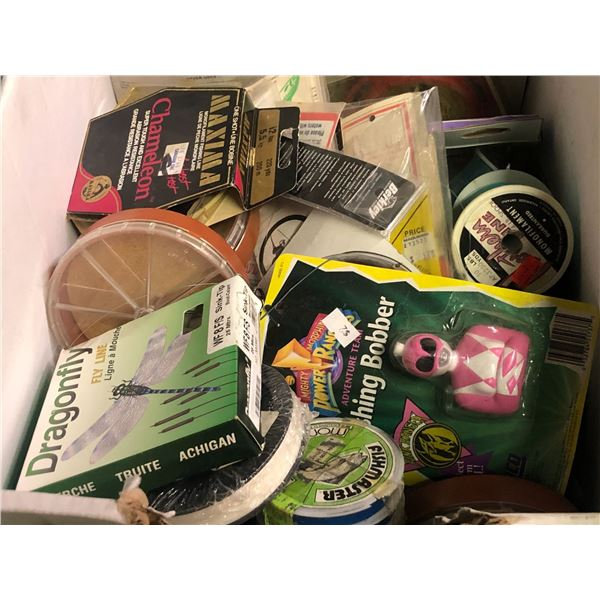 1 Box of assorted fishing lines and leaders
