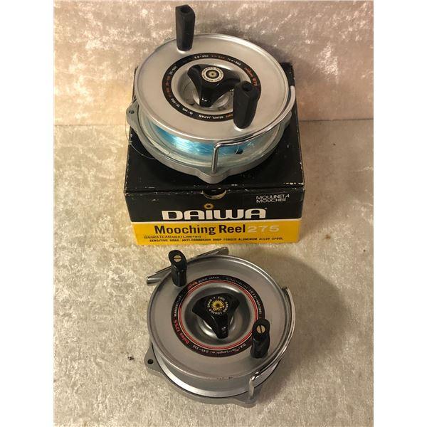 """2 Daiwa mooching reels -- model 275 - 4 1/2"""" & model 175s - 4"""""""