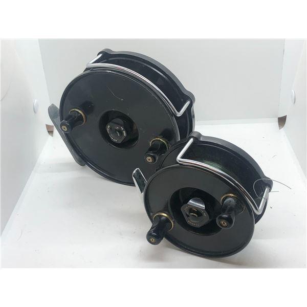 "2 JW Young & Sons mooching reels -- windex 5 1/2"" & windex 4"""