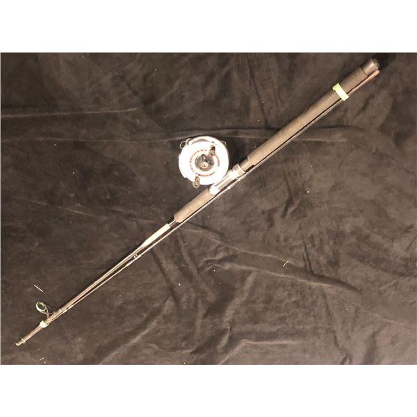 Daiwa powerlite PL25m approx. 9ft fishing rod w/ zedco z/300 mooching reel