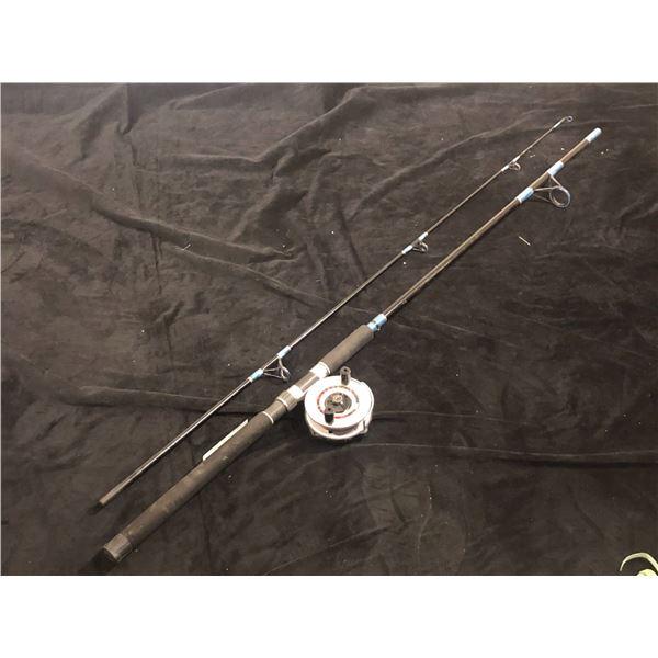 """Shakespeare """"pro-am"""" BWS990 - 2M salmon rod 9ft salmon rod w/zedco z/300 mooching reel"""