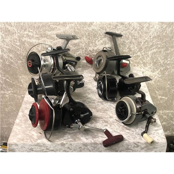 6 Assorted vintage spinning reels