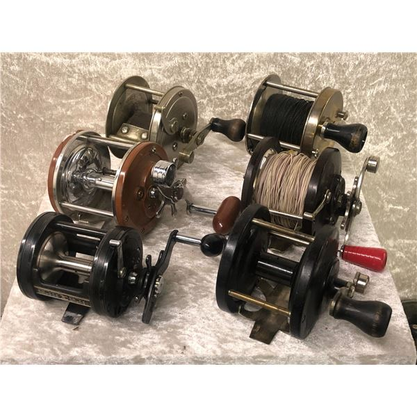 6 Assorted level-wind reels