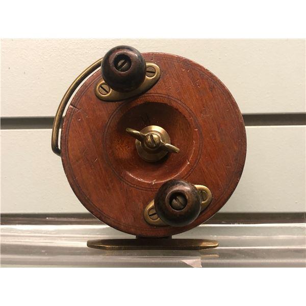 "Peetz 4"" vintage classic wooden fishing reel"