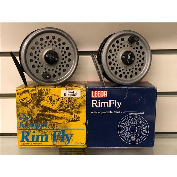 2 Vintage fly reels - intrepid rim fly & leeda rim fly