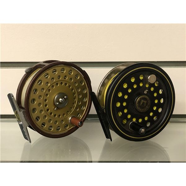 2 Vintage fly reels - compac 330 & martin