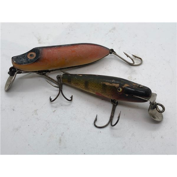 2 Vintage fishing lures - No Markings