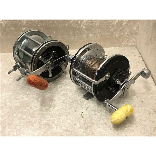 2 Penn level wind reels - longbeach #66 & senator 4/0