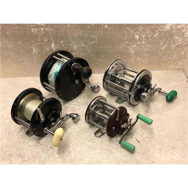 4 Penn assorted level wind fishing reels