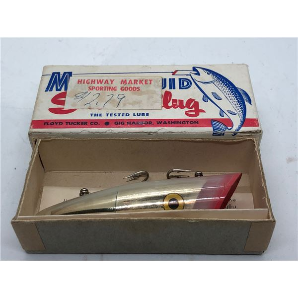 """Vintage Mac's Squid 4"""" salmon plug """"#20 papa mac"""" w/original box"""