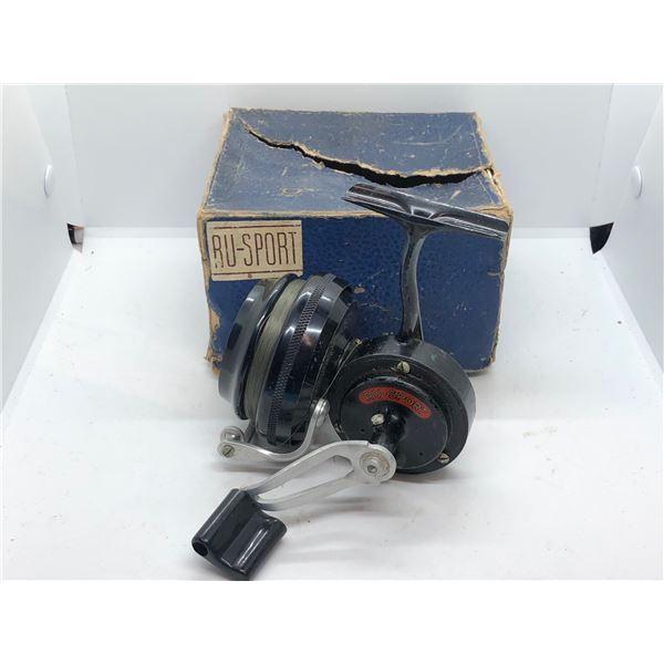 Antique RU-SPORT spinning reel w/orginal box
