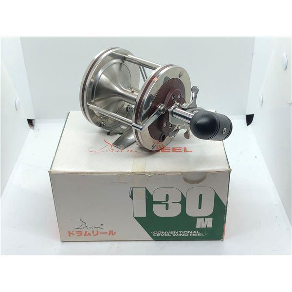 IDA Machine works japan drum 130m level wind fishing reel w/original box