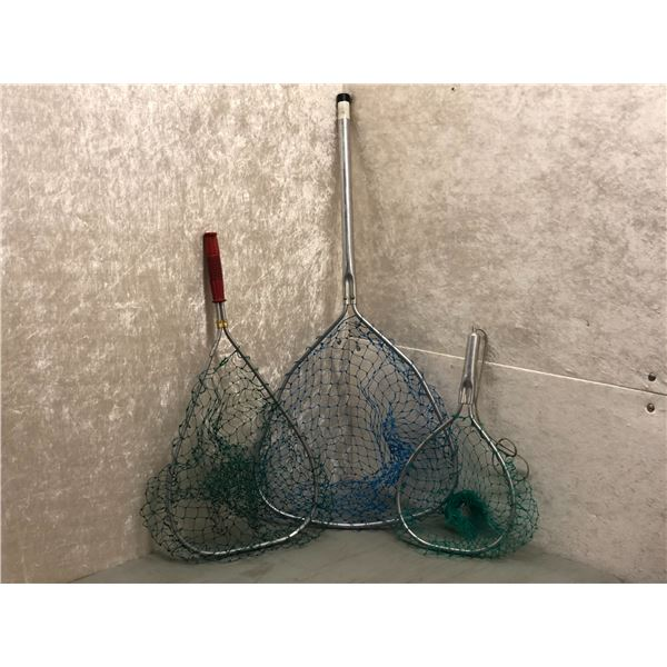 Group of 3 trout nets