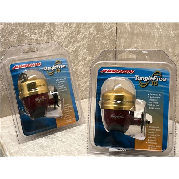 2 Johnson tangle free 10 casting reels
