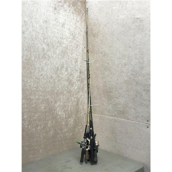 Bundle of 6 assorted fishing rods & 4 reels