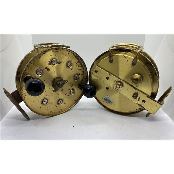 2 Vintage peetz brass trolling reels