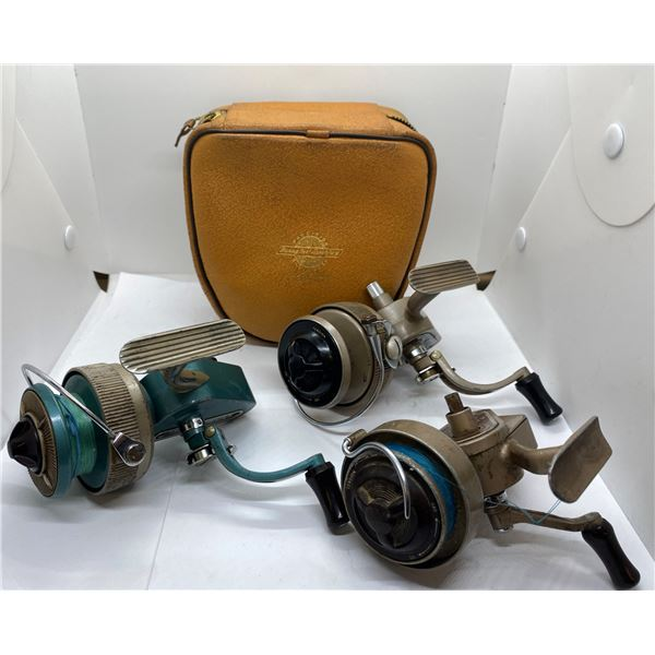 3 J.W. Young (ambidex antique spinning reels)